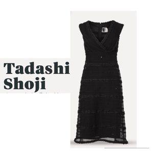 Tadashi S Vintage Black Off Shoulder Sequin Dress